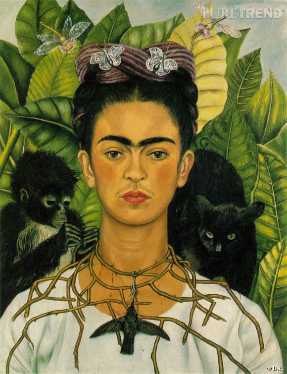 """Auto-Portrait"", 1940, Frida Kahl, Harry Ransom Humanities Research Center, Austin.       www.fridakahlo.com"