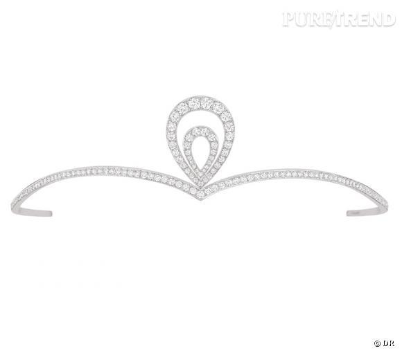 """Diadème """"Joséphine"""", Chaumet       Diadème en or gris pavé de diamants.       Prix sur demande.         www.chaumet.fr"""
