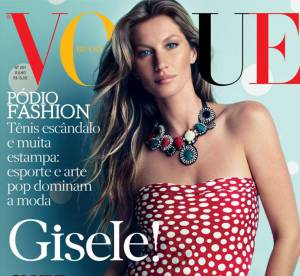 Gisele Bundchen s'habille de pois japonais pour Vogue