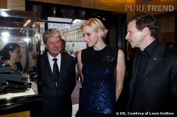 Yves Carcelle, la princesse Charlene de Monaco et Lorenz Baumer.