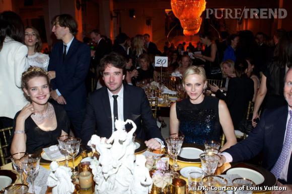 Natalia Vodianova, Antoine Arnault et la Princesse Charlene de Monaco.