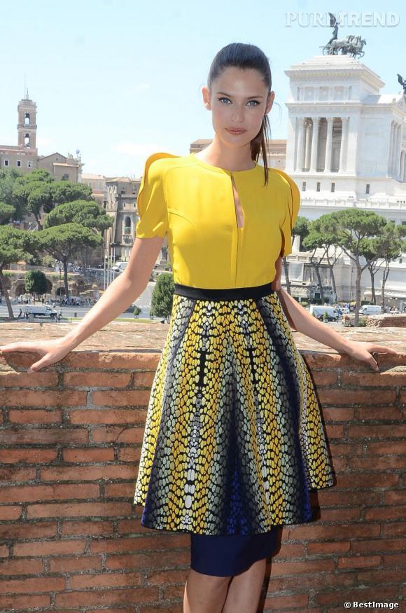 Bianca Balti présente l'exposition qui lui est consacrée à Rome.