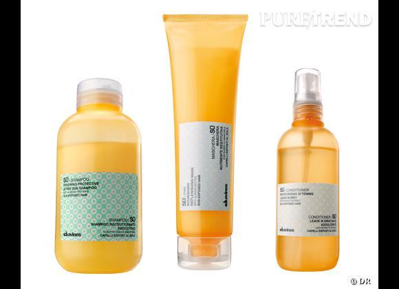 Conditioner, masque et shampooing de la ligne SU de Davines, entre 17,40 et 22,40 €.