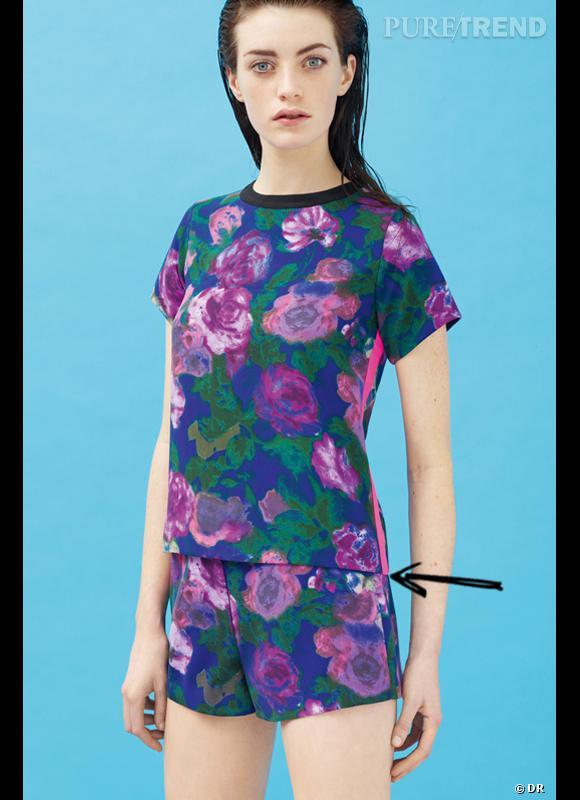Comment porter le short cet été ?       Comme chez Sandro on adopte le short imprimé fleurs XXL.     Collection Printemps-Eté 2012