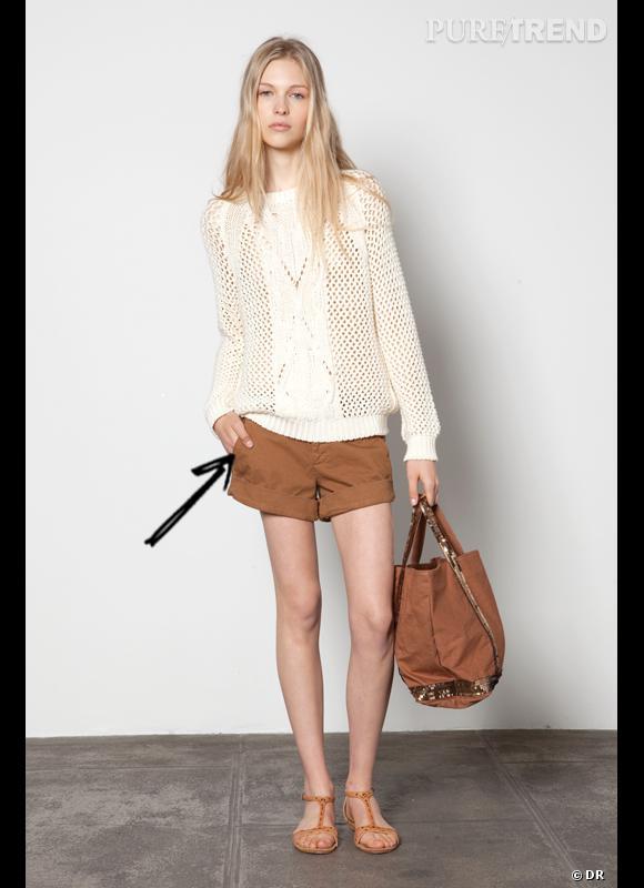 Comment porter le short cet été ?       Comme chez Athé de Vanessa Bruno, le short se fait romantique associé à de la maille estivale et des sandales plates.     Collection Printemps-Eté 2012
