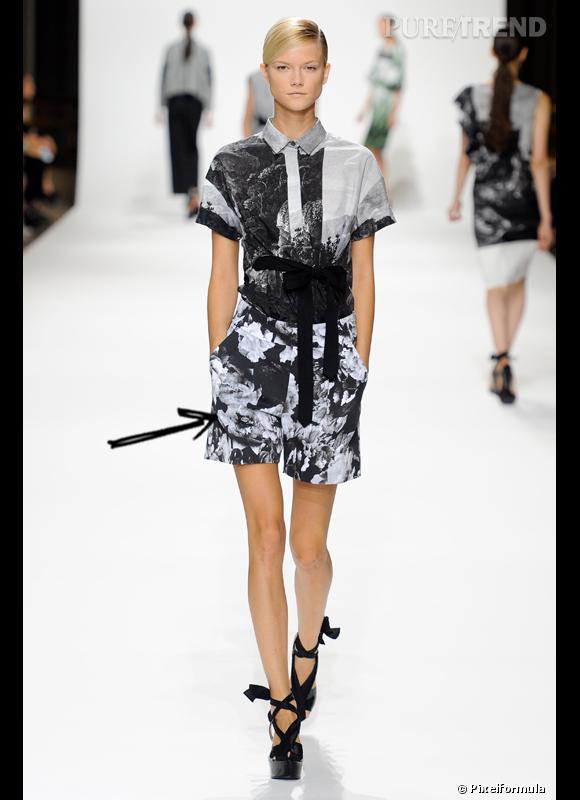 Comment porter le short cet été ?       Comme chez Dries van Noten, on opte pour un short imprimé fleurs XXL.     Défilé Printemps-Eté 2012