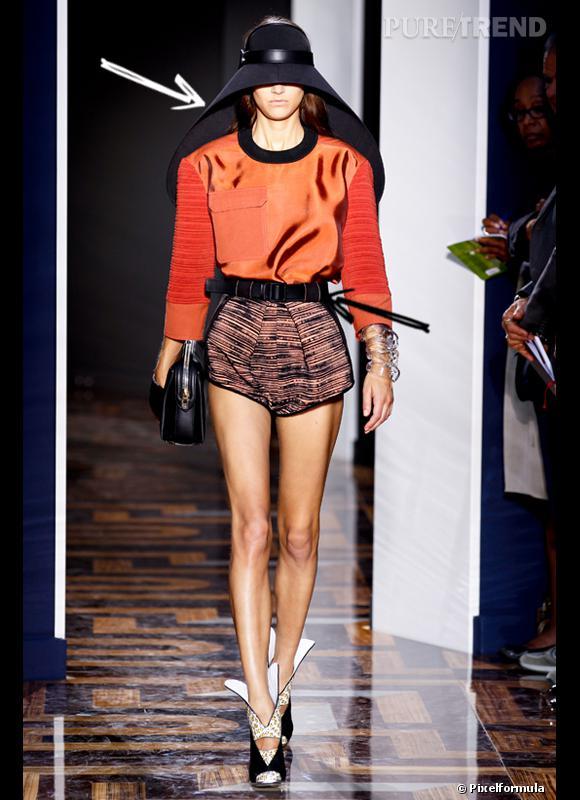 Comment porter le short cet été ?       Comme chez Balenciaga, le short se porte très court presque culotte haute. A ceinturer et accessoiriser avec une chapeau XXL.    Défilé Printemps-Eté 2012