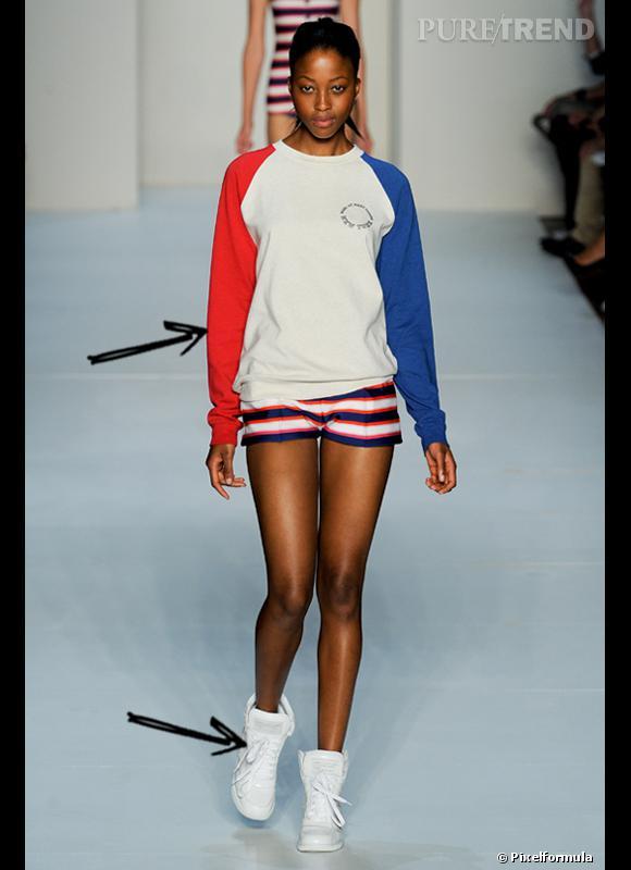 Comment porter le short cet été ?       Comme chez Marc by Marc Jacobs, le short en soie chic se porte avec des baskets et un sweat pour une allure sportswear élégant parfaite.     Défilé Printemps-Eté 2012