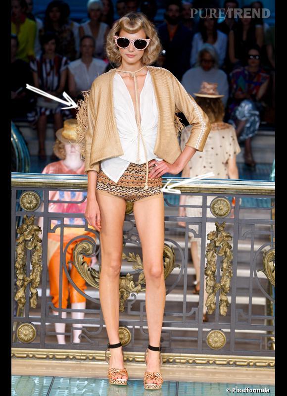 Comment porter le short cet été ?       Comme chez Tsumori Chisato le short se fait mini, se confondant avec la culotte, mais imprimé estival. A accessoiriser d'un chapeau de paille.     Défilé Printemps-Eté 2012
