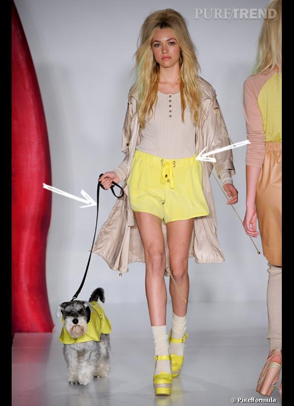 Comment porter le short cet été ?       Comme chez Mulberry on choisit son short couleur jaune pastel, tendance, avec une corde pour le fermer, style sportswear, tendance aussi.     Défilé Printemps-Eté 2012