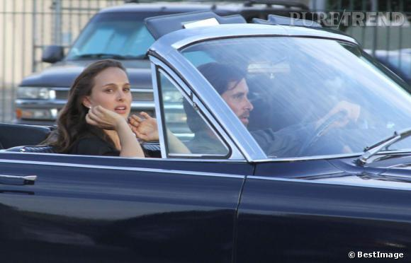 """Natalie Portman sur le tournage de """"Knight of Cups"""" à Los Angeles."""