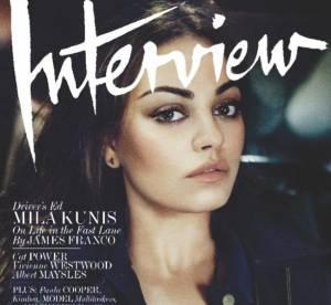 Mila Kunis en couverture d'Interview : elle espère être maman dans 5 ans