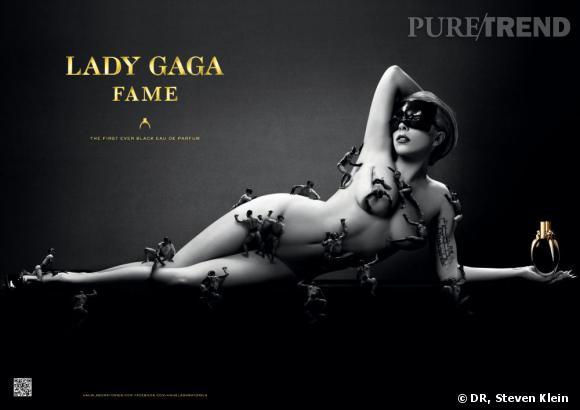 Lady Gaga pose nue pour le visuel de la campagne de The Fame.
