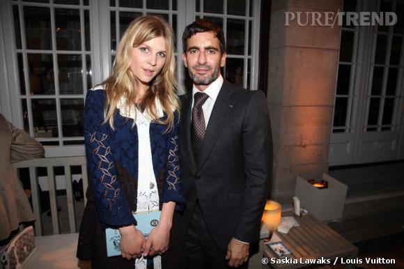 Clémence Poesy prend la pose avec Marc Jacobs.