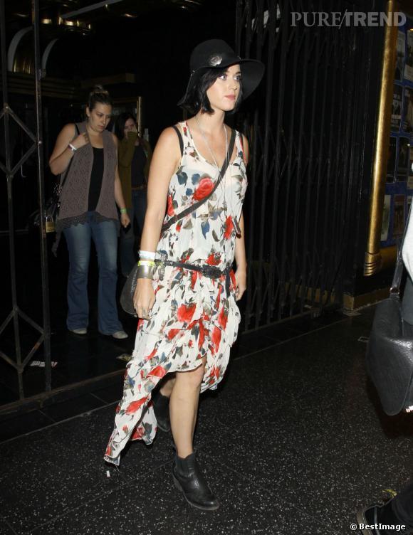 Katy Perry à la sortie du concert de The XX, à Hollywood, le 23 juillet dernier.