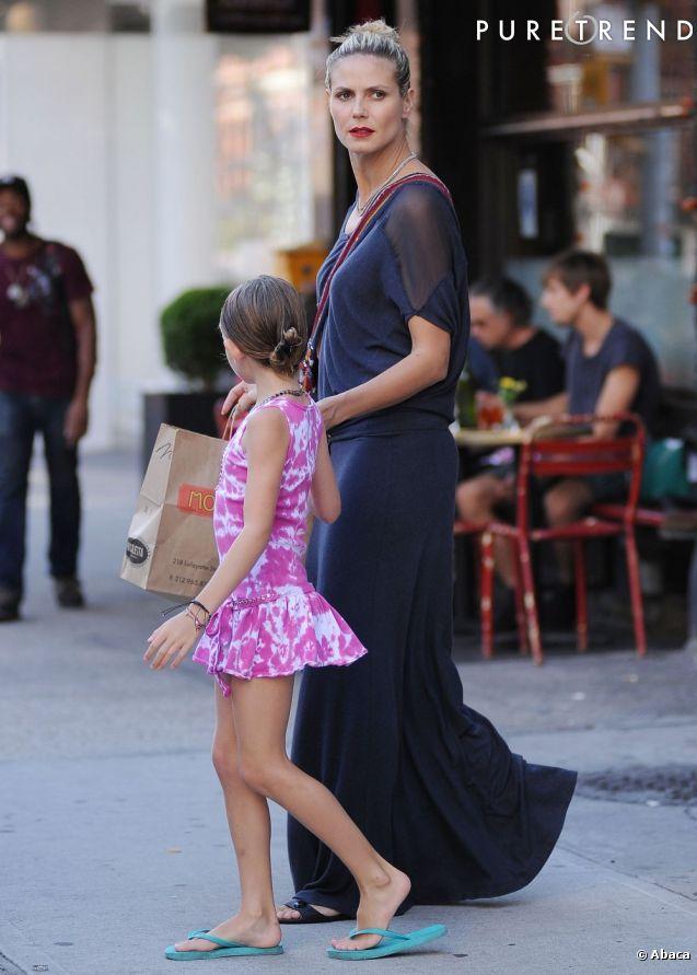 Heidi klum jeune maman c libataire et sexy dans les rues for Hors des robes de mariage rack new york