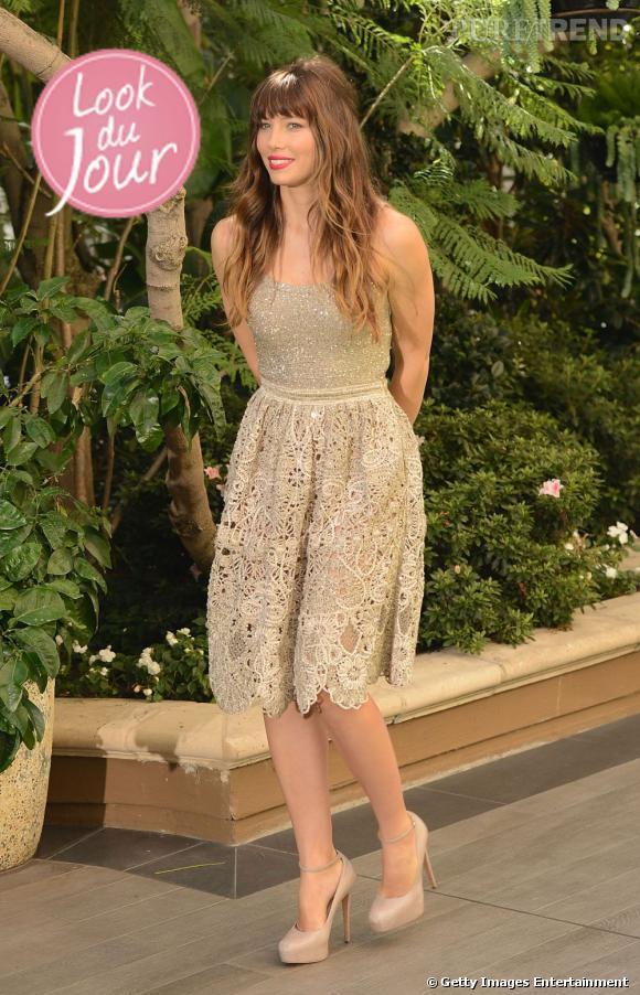 Jessica Biel lors du photocall de Total Recall au Four Seasons de Los Angeles.