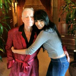 Hugh Hefner et sa nouvelle playmate Sherlyn Chopra.