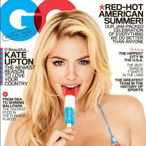 Kate Upton ou le sex-appeal patriotique en une de GQ.