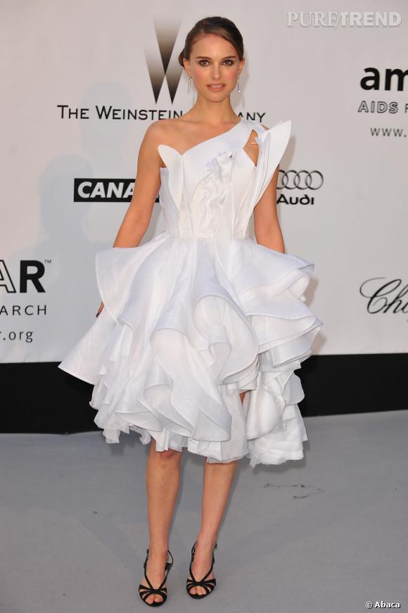 Natalie Portman, plutôt mariée en robe froufrou ou robe simple ?