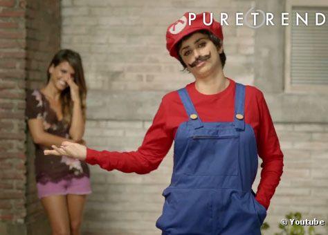 Pénélope Cruz se déguise en Super Mario