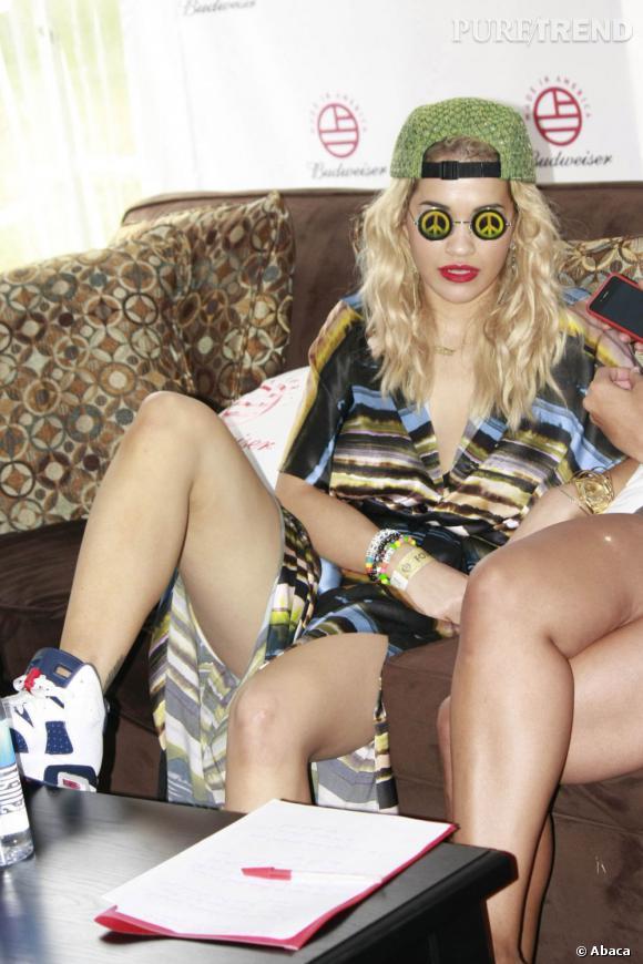 Rita Ora en promotion à Philadelphie.