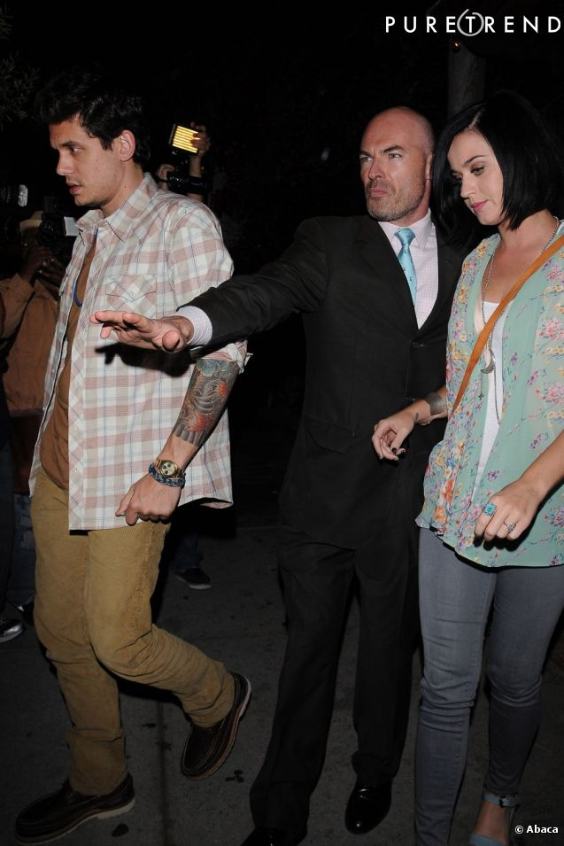 Katy Perry et John Mayer à la sortie d'un res