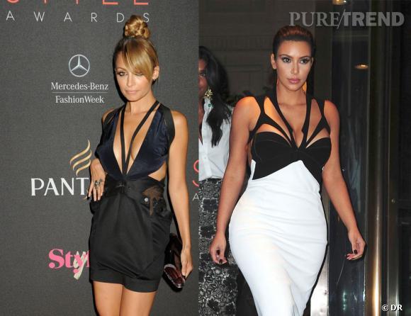 Nicole Richie et Kim Kardashian : le duel des robes à découpes.