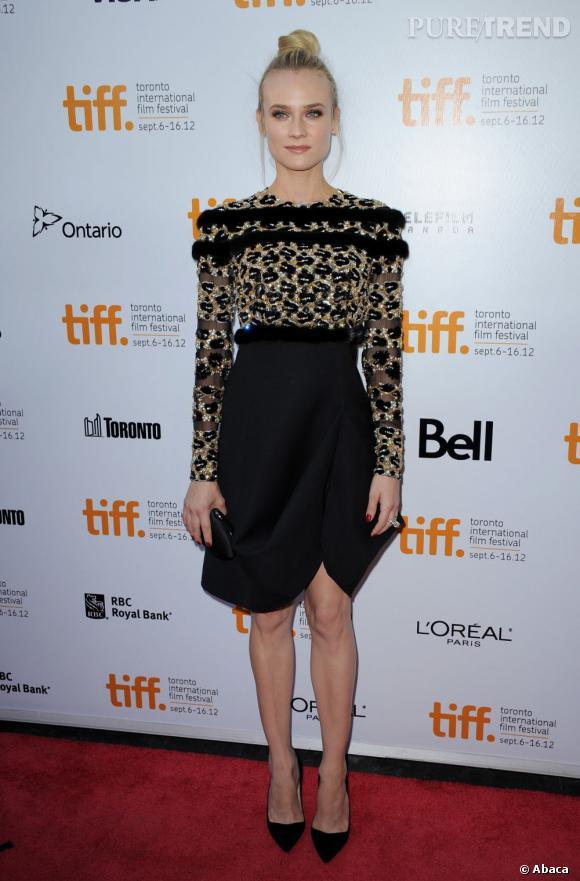 Diane Kruger, allure sophistiquée et animale en Valentino Couture.