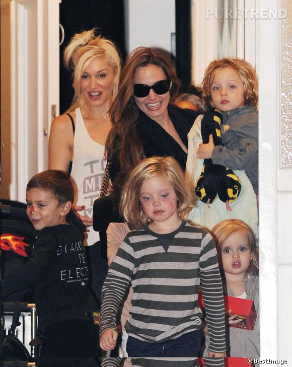 L'une est une actrice très connue, l'autre une rock star adulée... Et pourtant elles se retrouvent souvent à Londres avec leurs enfants respectifs !