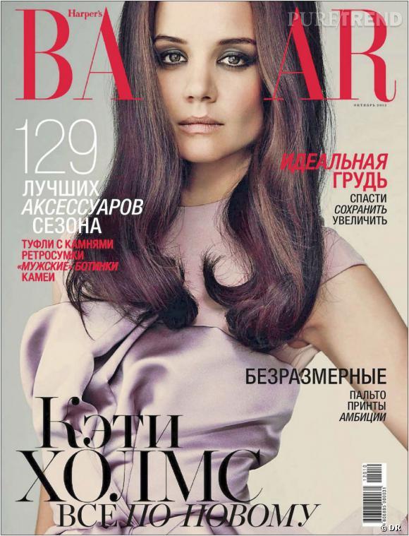 Katie Holmes a l'air éteinte sur cette photo pour Harper's Bazaar. À moins qu'elle ait l'air hautaine !