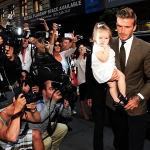 David Beckham, papa stylé qui fait le miel des photographes.