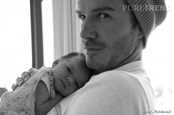 David Beckham et sa petite dernière : Harper.