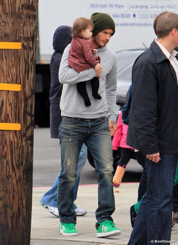 David Beckham et Harper : le style casual tendance dans les rues de Los Angeles.