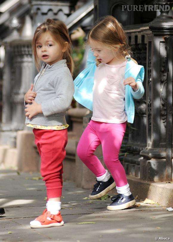 Les jumelles Marion Loretta et Tabitha Hodge Broderick.