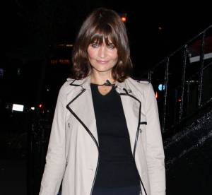 Helena Christensen, school girl et glamour à New York... A shopper !