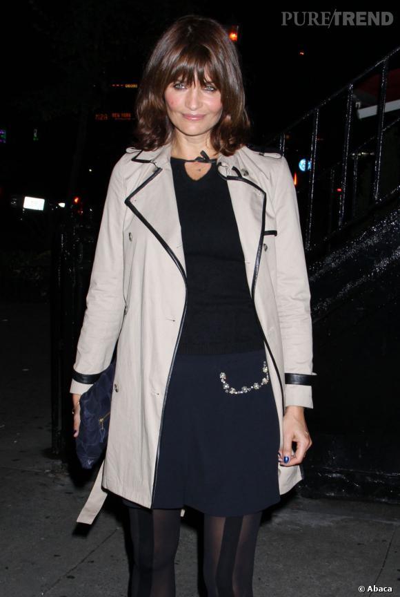 """Helena Christensen à la projection de """"Seven Psychopaths"""" à New York."""