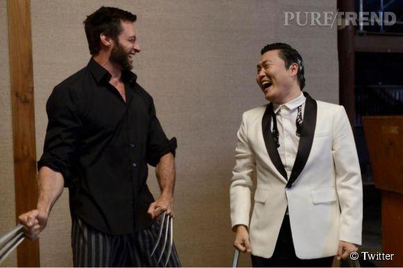 En pleine promo du film, Hugh Jackman succombe à la mode du Gangnam Style.