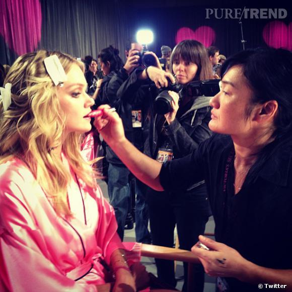 Etape make-up.
