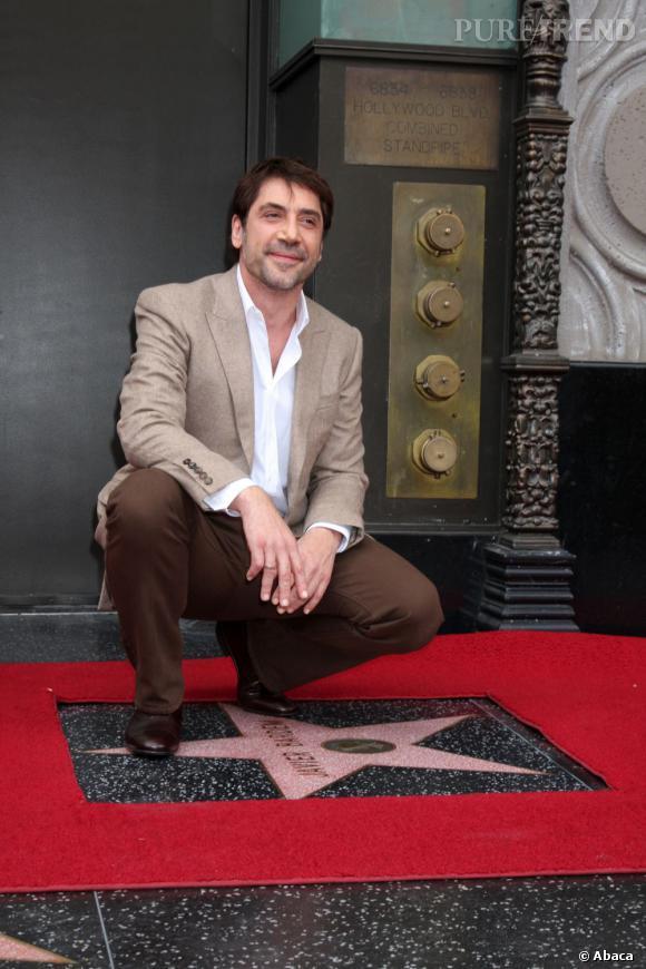 Javier Bardem inaugure sa Walk of Fame.
