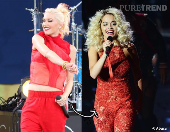 Quoi de mieux pour sublimer une blonde qu'un peu de rouge ? Gwen Stefani l'adopte sur scène... Rita Ora aussi !