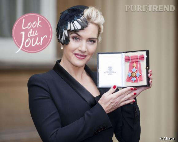 Kate Winslet à Buckingham Palace à Londres.