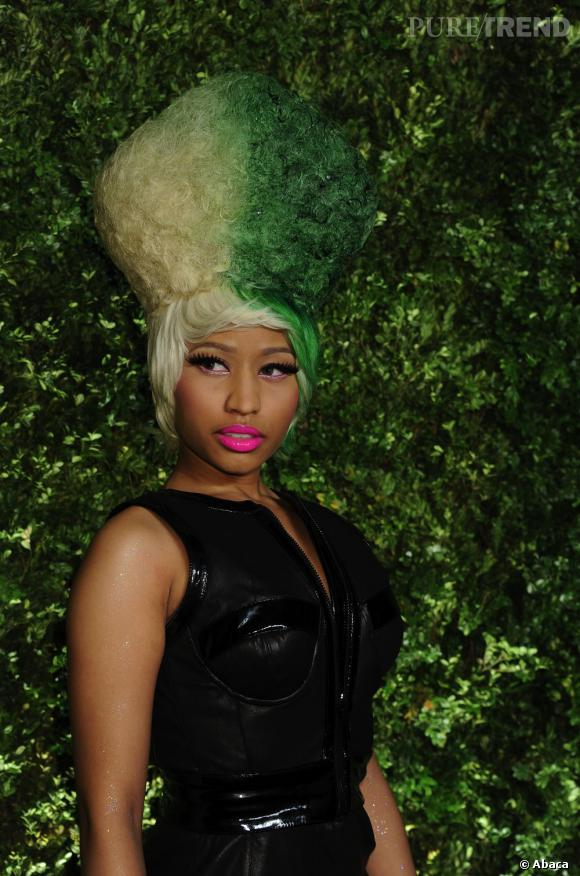 Nicki Minaj en mission camouflage.