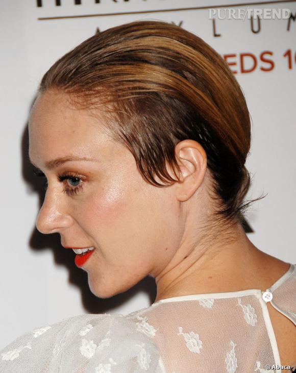 Chloë Sevigny a confondu wet look et cheveux gras.