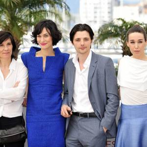 Catherine Corsini, Clothilde Hesme, Raphael Personnaz et Arta Dobroshi au 65e festival de Cannes le 25 mai 2012.