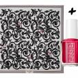 Accessoires : duos glamour !       Foulard Loewe Barocco, 250 €      +      Vernis à ongles   She's Pampered  Essie, 11,90 €