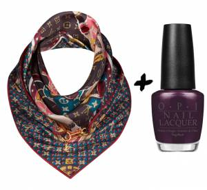 Accessoires : vernis à ongles + foulards, nos duos glamour