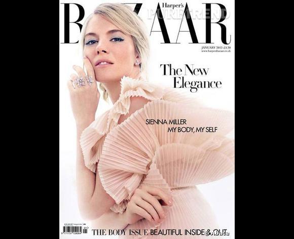 Sienna Miller en couverture de Harper's Bazaar.