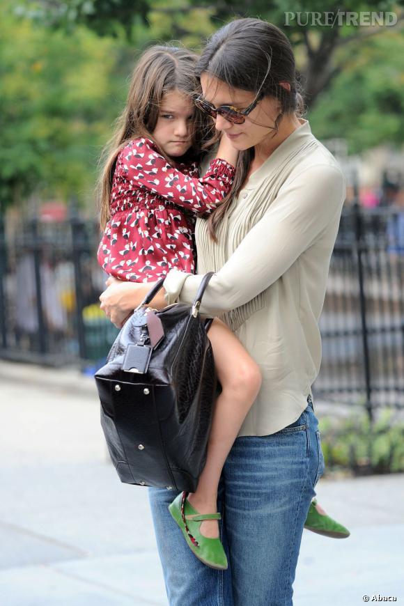 Suri Cruise a passé Noël avec sa maman Katie Holmes, puis avec son papa Tom Cruise.