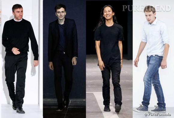 Les créateurs à suivre cette année 2013 : Raf Simons chez Dior, Hedi Slimane chez Saint Laurent, Alexander Wang chez Balenciaga et Jonathan Anderson chez Versus !